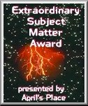 Extraordinary Subject Matter Award