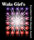 Wala Girl's Excellent Web Design Award