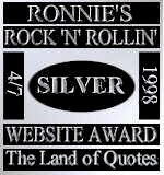 Ronnie's Rock 'n' Rollin' Web Site Award